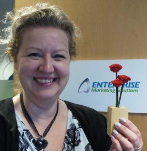 Karen Moule with Flower from Furzedown-Flower